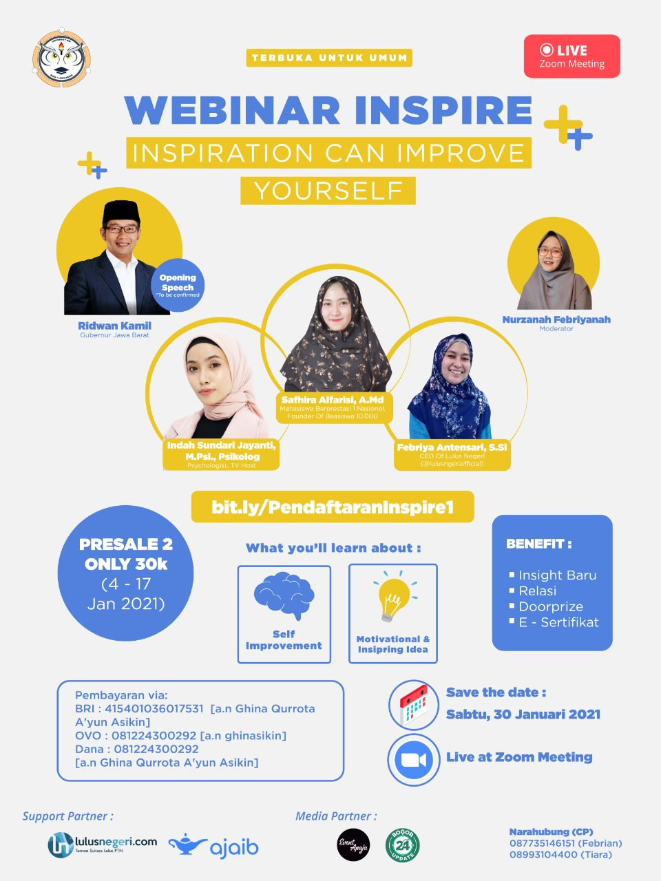 WEBINAR INSPIRE : Inspiration Can Improve Yourself