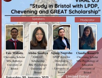 proudly presents VIRAL 0.3 Study in Bristol with LPDP, Chevening and GREAT Scholarship!