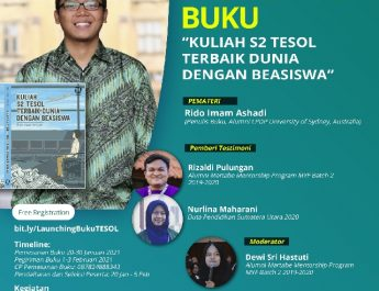 MYF Presents : Launching Buku KULIAH S2 TESOL TERBAIK DUNIA DENGAN BEASISWA